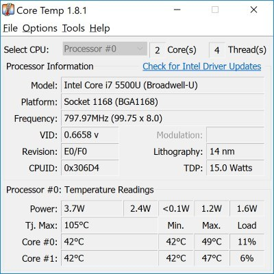 Cómo comprobar la temperatura de tu portátil en Windows 10 8