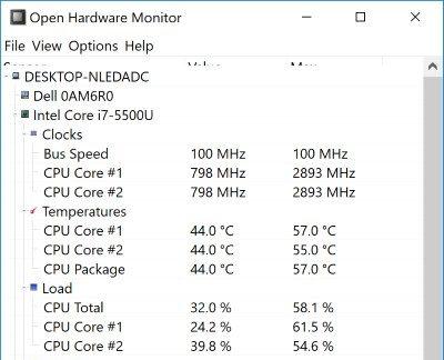 Cómo comprobar la temperatura de tu portátil en Windows 10 4