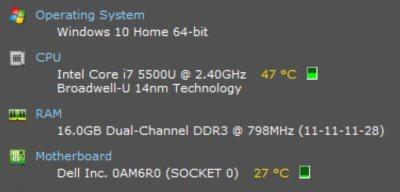Cómo comprobar la temperatura de tu portátil en Windows 10 12
