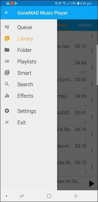 BlackPlayer vs GoneMAD: Comparación de dos grandes reproductores de música Android 7