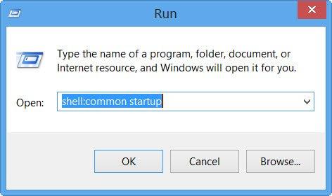 Windows 10 startup folder location