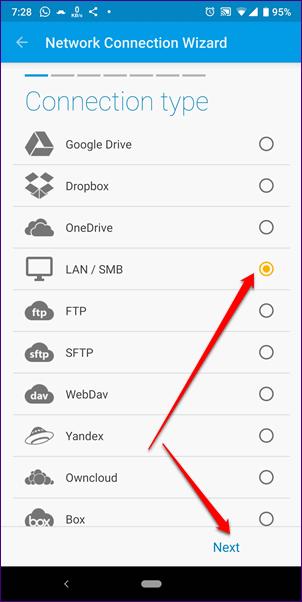 Cómo acceder a SMB Server en Solid Explorer 19