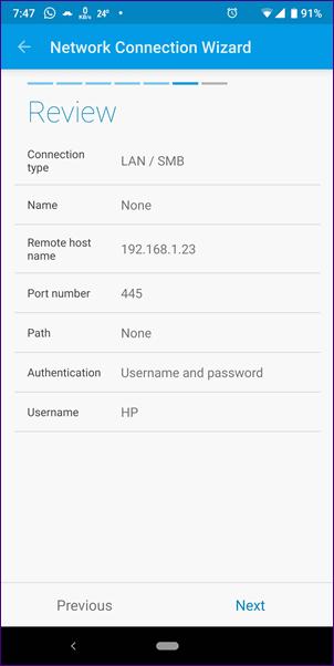 Cómo acceder a SMB Server en Solid Explorer 27