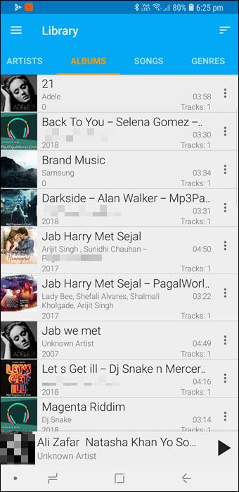 BlackPlayer vs GoneMAD: Comparación de dos grandes reproductores de música Android 6