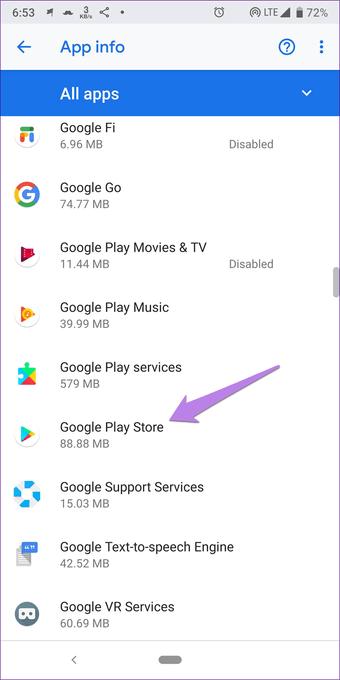Cómo solucionar el problema de Google Play Store ha dejado de funcionar 6