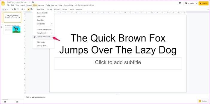 Cómo añadir animaciones en Google Slides 14