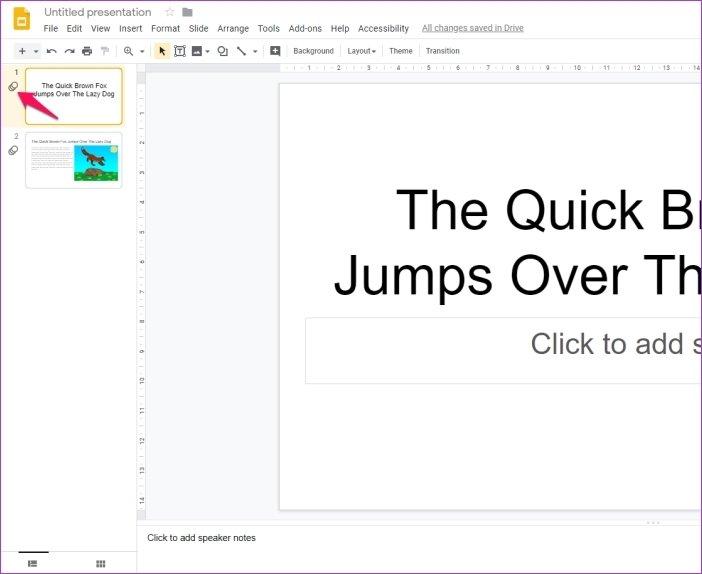 Cómo añadir animaciones en Google Slides 17