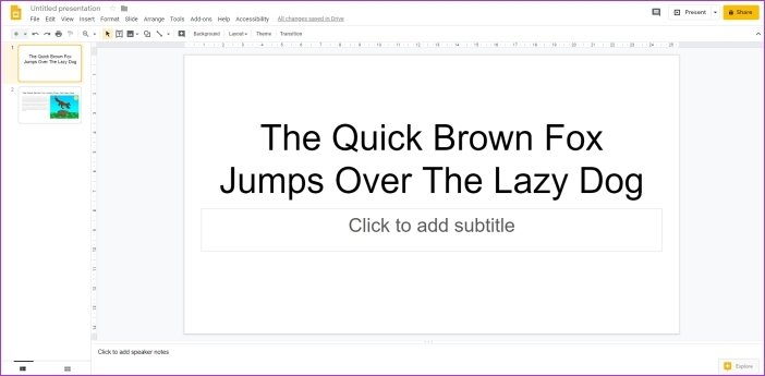 Cómo añadir animaciones en Google Slides 2