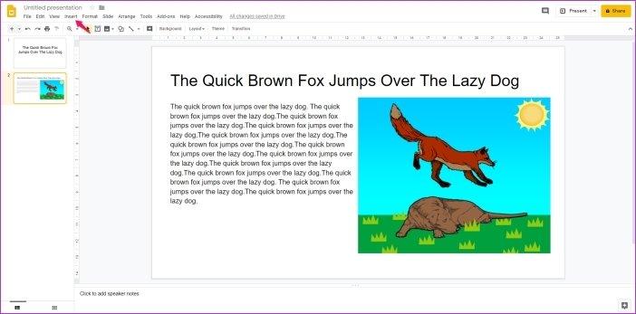 Cómo añadir animaciones en Google Slides 4