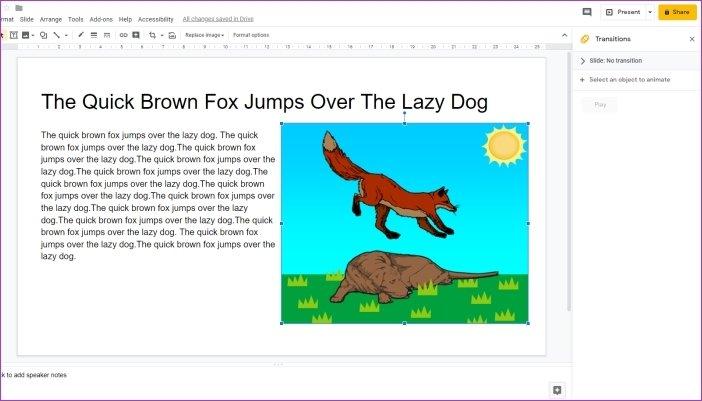 Cómo añadir animaciones en Google Slides 7