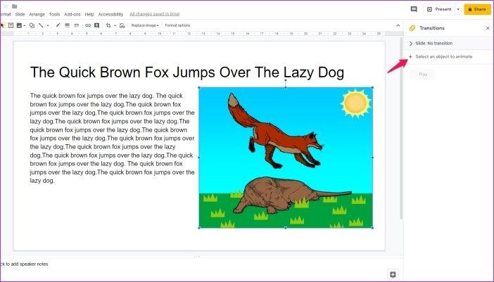 Cómo añadir animaciones en Google Slides 8