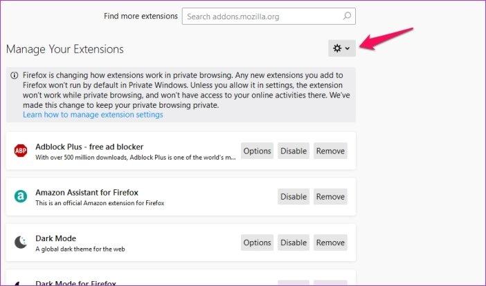 Cómo personalizar los atajos de teclado en Firefox 67 13
