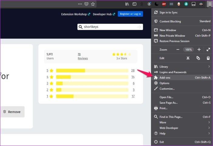 Cómo personalizar los atajos de teclado en Firefox 67 5