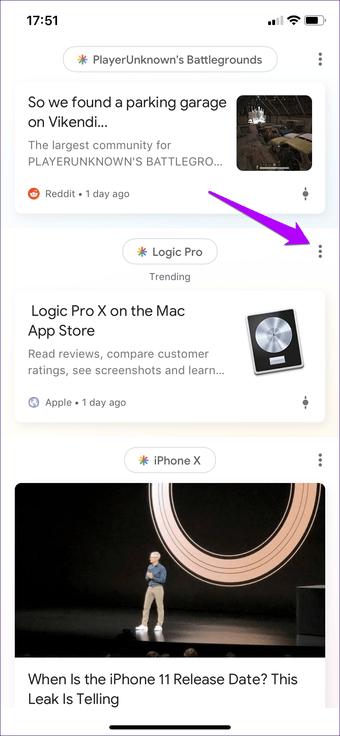 Cómo desactivar las búsquedas de Google App Trending en Android e iOS 12