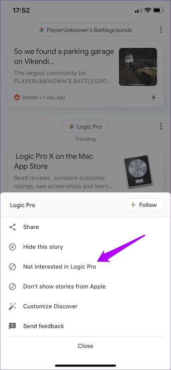 Cómo desactivar las búsquedas de Google App Trending en Android e iOS 13
