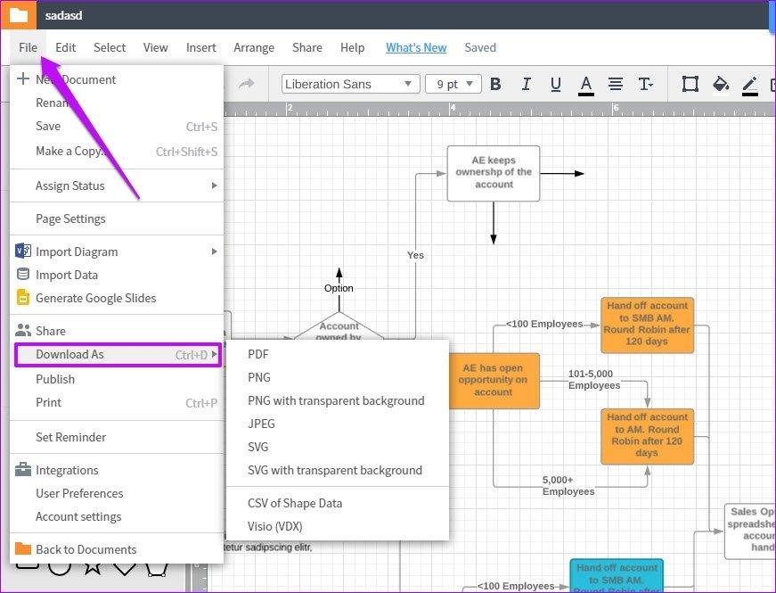 Cómo exportar diagramas de Lucidchart a Microsoft Word y Excel 2