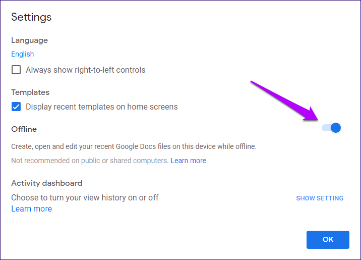 Cómo solucionar los problemas de Google Docs no funciona sin conexión 4