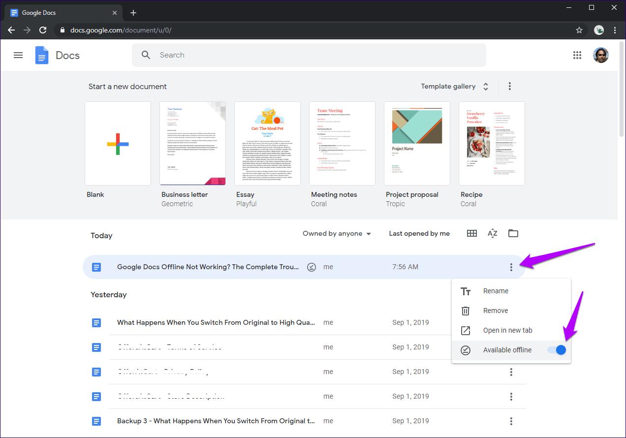 Cómo solucionar los problemas de Google Docs no funciona sin conexión 6