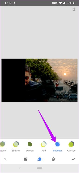 Cómo corregir el cielo sobreexpuesto en fotos usando Snapseed 13