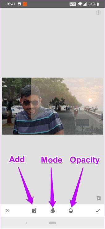 Cómo corregir el cielo sobreexpuesto en fotos usando Snapseed 12