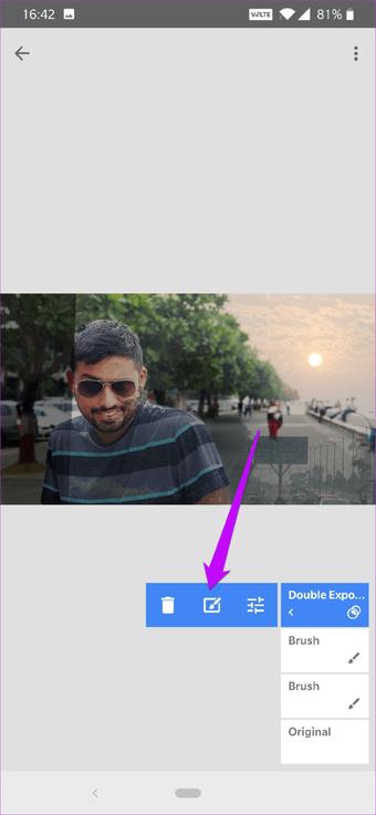 Cómo corregir el cielo sobreexpuesto en fotos usando Snapseed 15