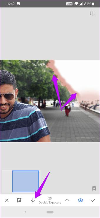 Cómo corregir el cielo sobreexpuesto en fotos usando Snapseed 16