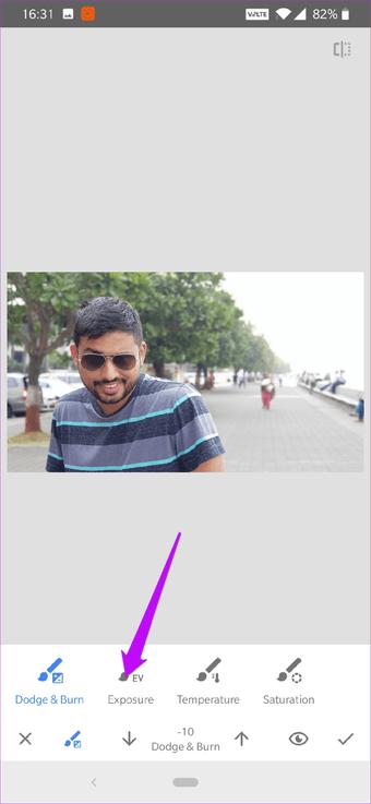 Cómo corregir el cielo sobreexpuesto en fotos usando Snapseed 3