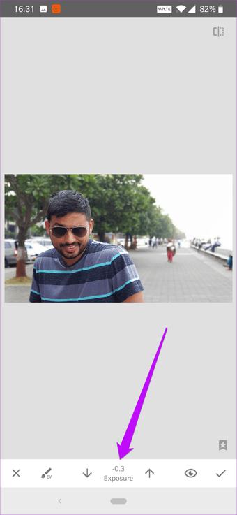 Cómo corregir el cielo sobreexpuesto en fotos usando Snapseed 4