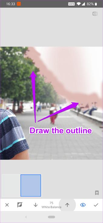 Cómo corregir el cielo sobreexpuesto en fotos usando Snapseed 9