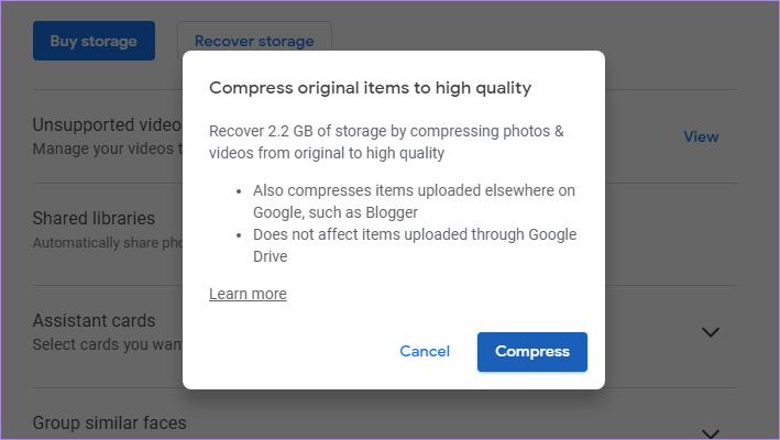 ¿Qué sucede cuando se cambia de original a alta calidad en las fotos de Google (o viceversa)? 4