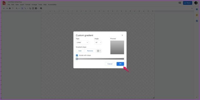 Cómo cambiar el fondo en Google Drawings 7