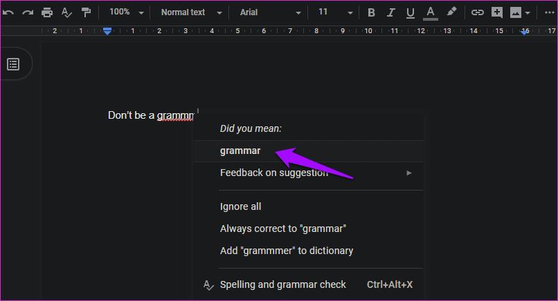 Las 11 mejores formas de resolver el corrector ortográfico que no funcionan en Google Docs 10