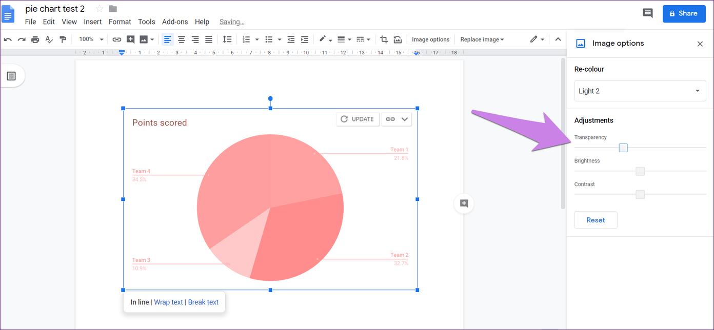 Cómo poner Pie Chart en Google Docs y 9 maneras de personalizarlo 19