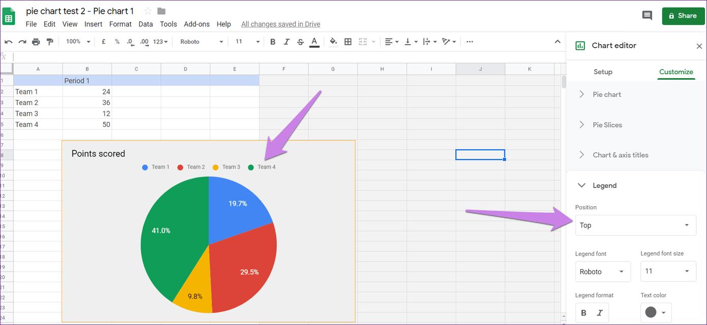 Cómo poner Pie Chart en Google Docs y 9 maneras de personalizarlo 15