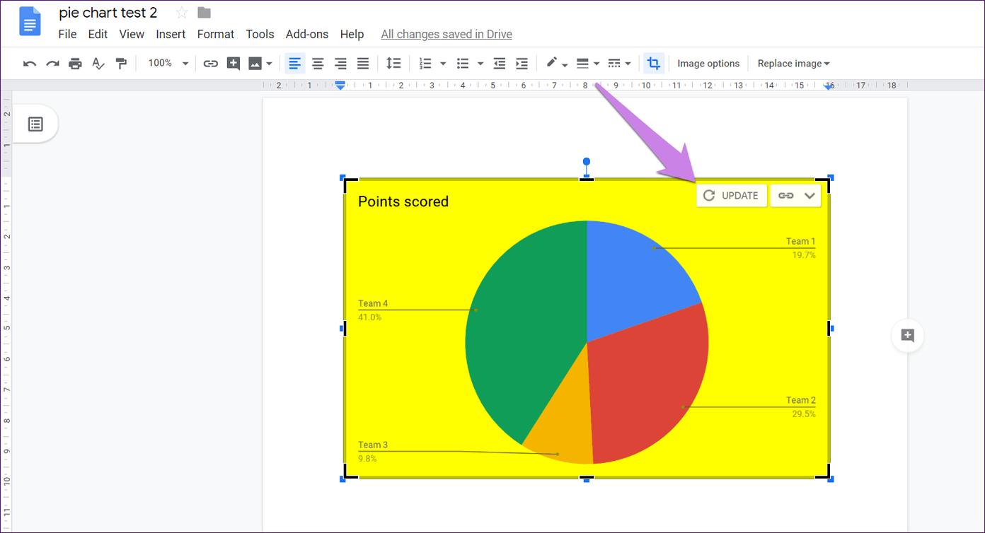 Cómo poner Pie Chart en Google Docs y 9 maneras de personalizarlo 8