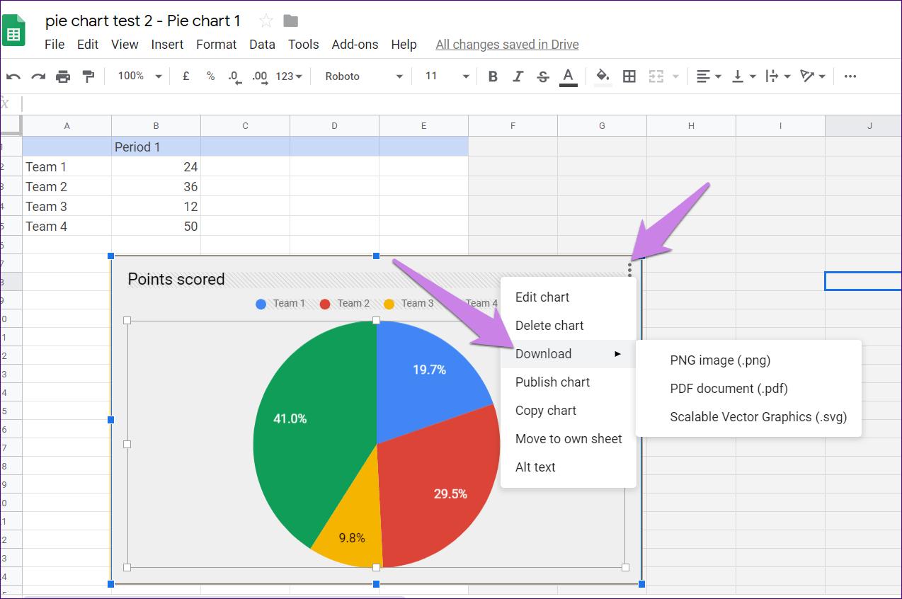 Cómo poner Pie Chart en Google Docs y 9 maneras de personalizarlo 16