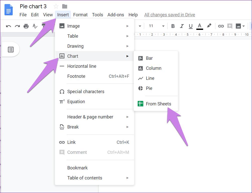 Cómo poner Pie Chart en Google Docs y 9 maneras de personalizarlo 4
