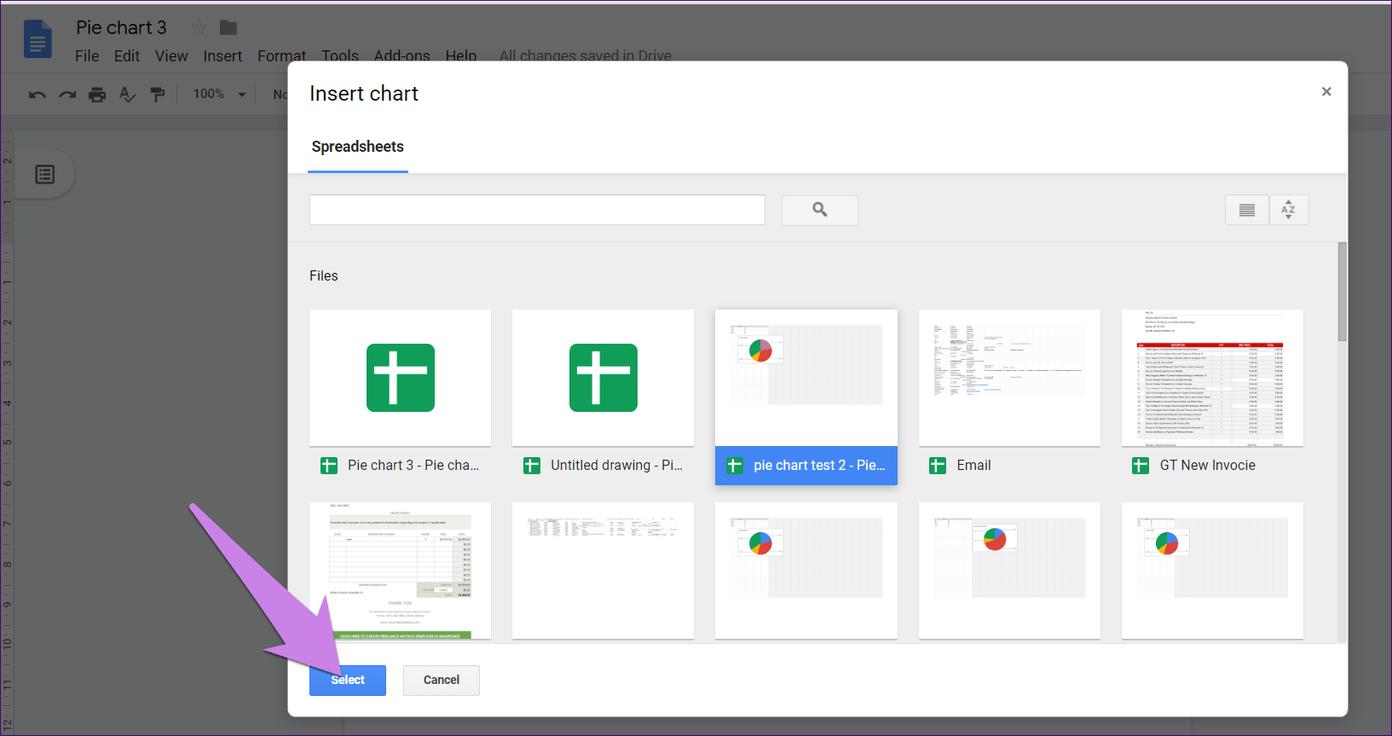 Cómo poner Pie Chart en Google Docs y 9 maneras de personalizarlo 5