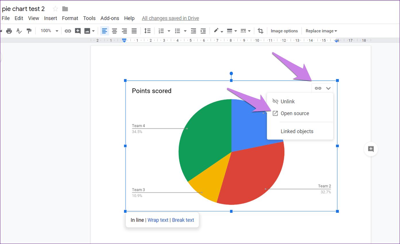 Cómo poner Pie Chart en Google Docs y 9 maneras de personalizarlo 6