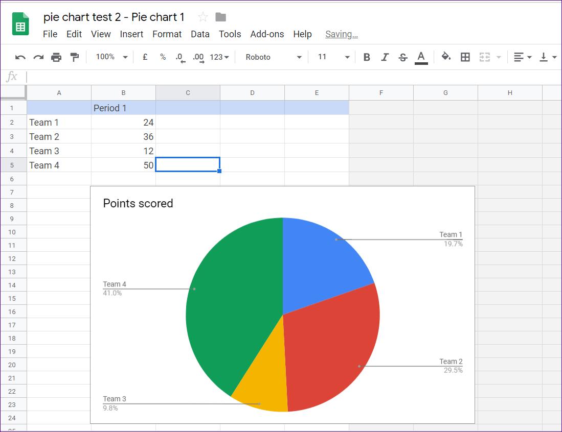 Cómo poner Pie Chart en Google Docs y 9 maneras de personalizarlo 7