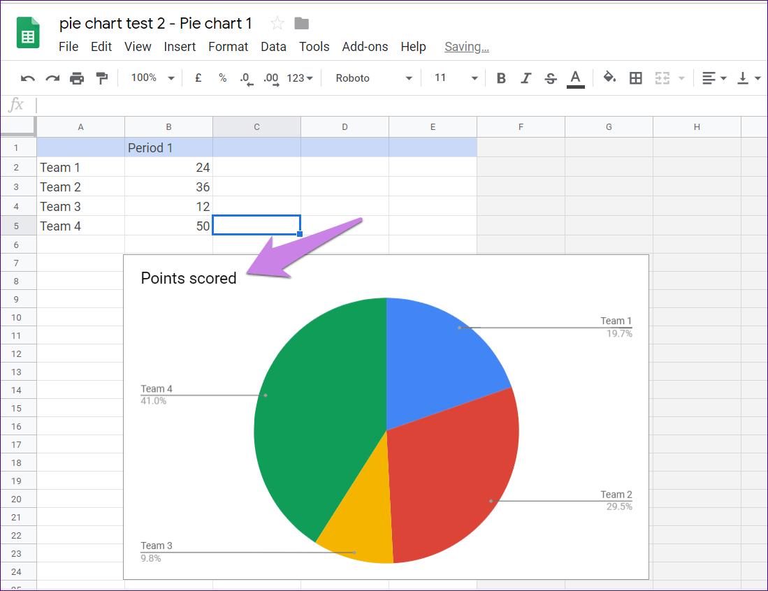 Cómo poner Pie Chart en Google Docs y 9 maneras de personalizarlo 9