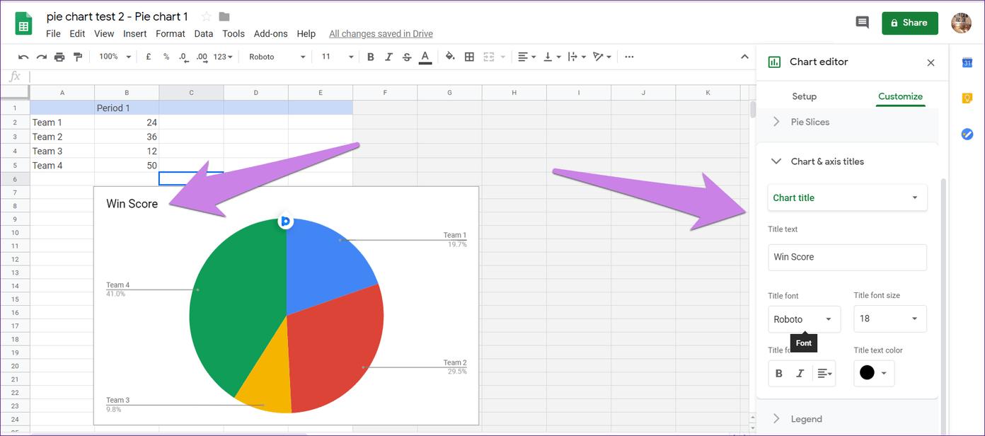 Cómo poner Pie Chart en Google Docs y 9 maneras de personalizarlo 10