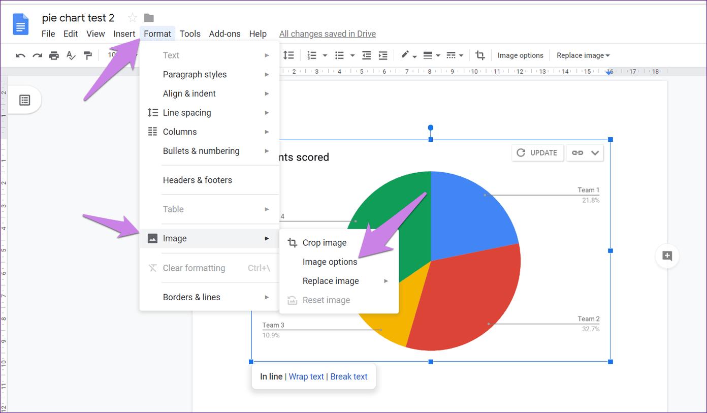 Cómo poner Pie Chart en Google Docs y 9 maneras de personalizarlo 17