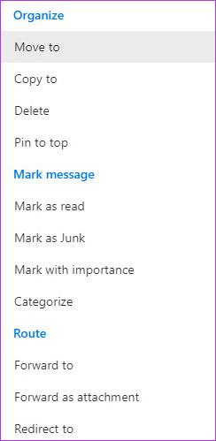 Cómo crear y administrar reglas en el correo web de Outlook 365 3