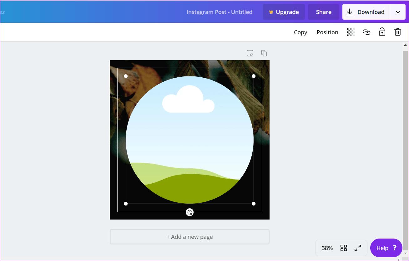 Cómo recortar imágenes en formas en Canva (aplicaciones de escritorio y móviles) 11
