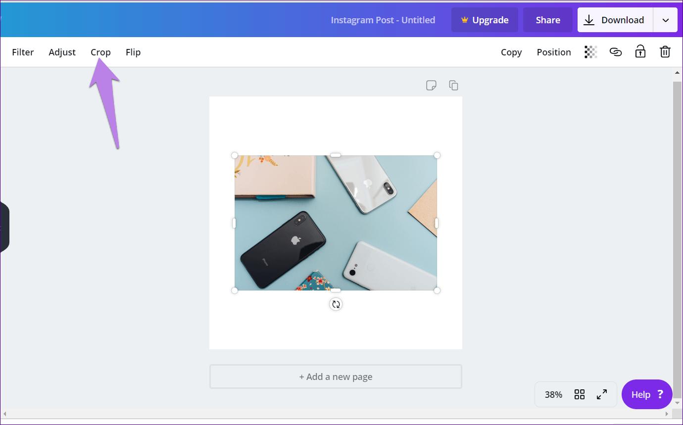 Cómo recortar imágenes en formas en Canva (aplicaciones de escritorio y móviles) 2