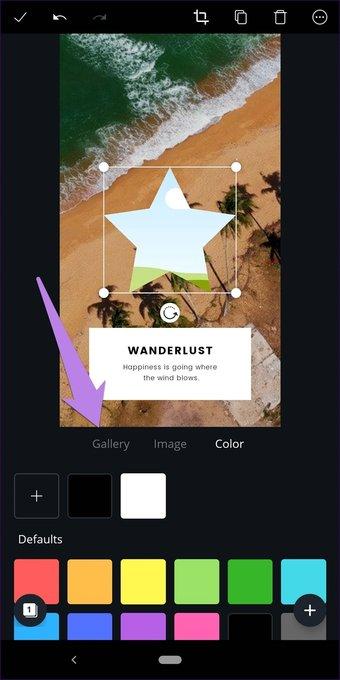 Cómo recortar imágenes en formas en Canva (aplicaciones de escritorio y móviles) 22