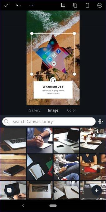 Cómo recortar imágenes en formas en Canva (aplicaciones de escritorio y móviles) 23