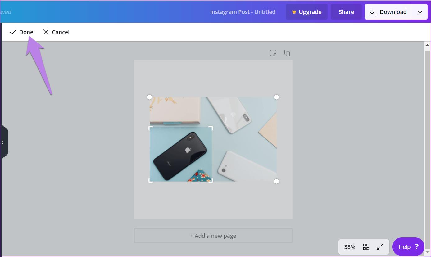 Cómo recortar imágenes en formas en Canva (aplicaciones de escritorio y móviles) 4