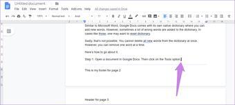 Cómo crear un encabezado y un pie de página diferentes para cada página de Google Docs 9